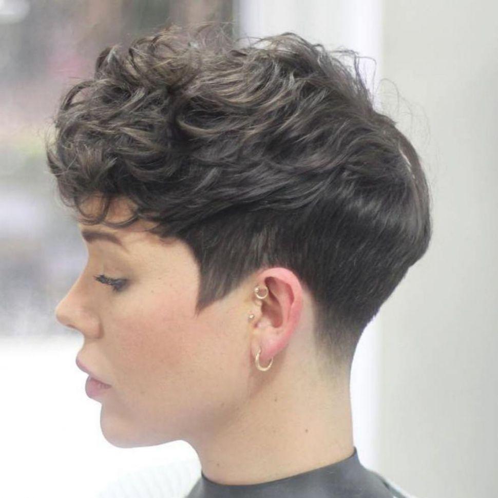 Short Pixie Haircuts trends 2020 Grayish highlights