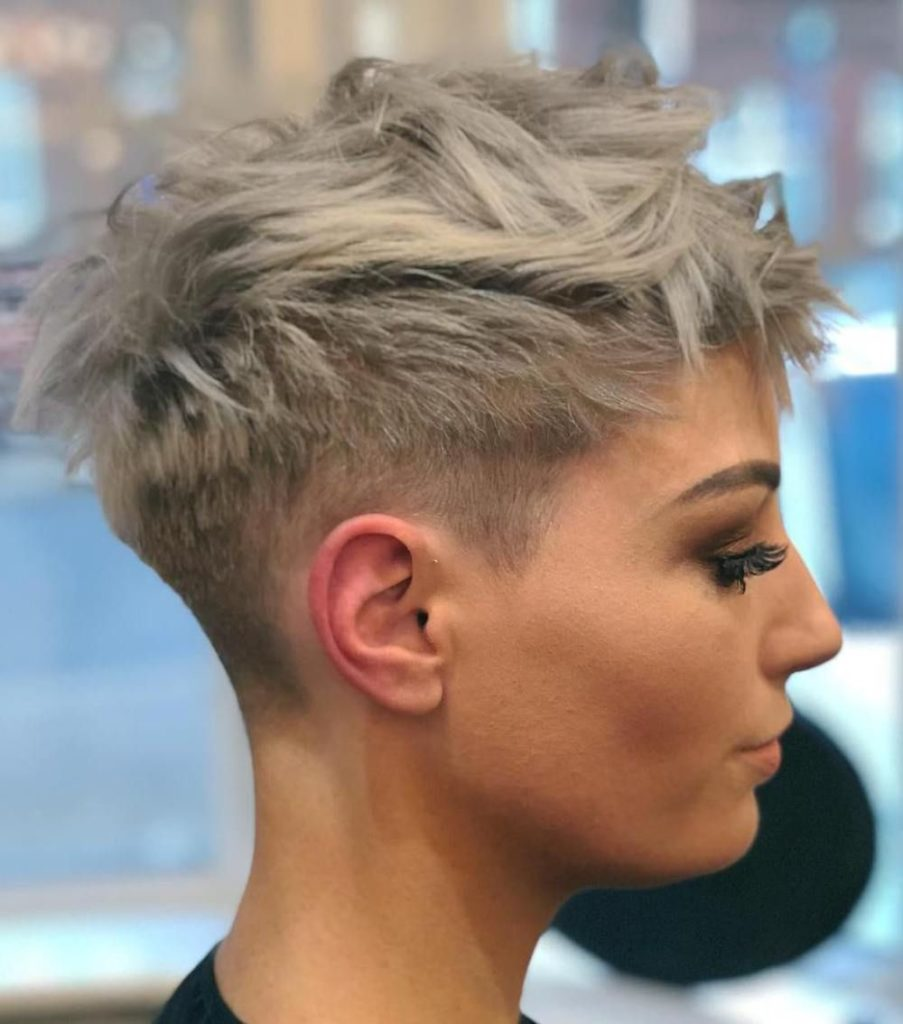 Short Pixie Haircuts trends 2020 Light ash blonde
