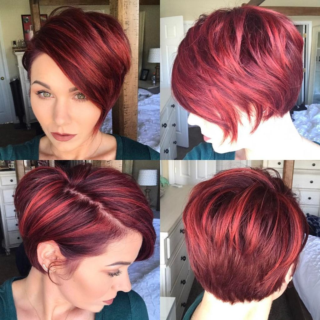 Short Pixie Haircuts trends 2020 Red Balayage 1