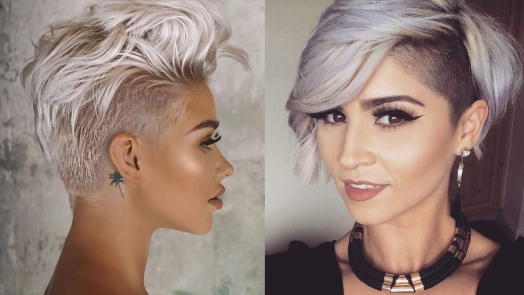 Short Pixie Haircuts trends 2020 ash gray