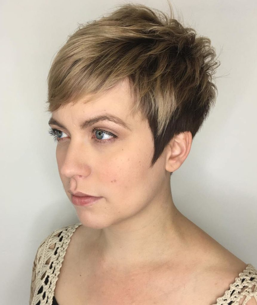 Short Pixie Haircuts trends 2020 blonde balayage