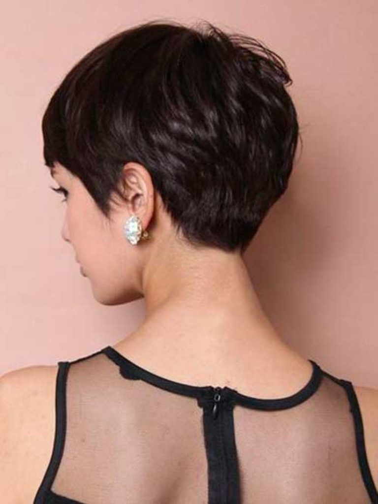Short Pixie Haircuts trends 2020 dark brown