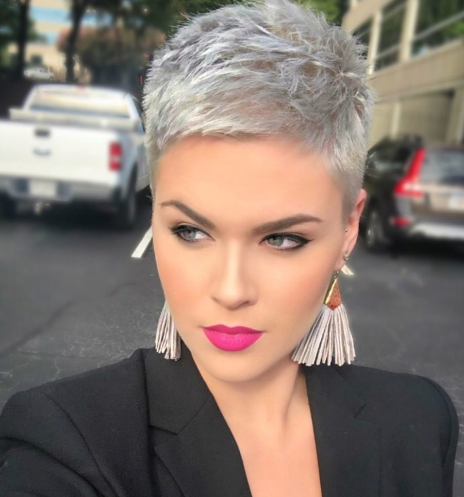 Short Pixie Haircuts trends 2020 gray