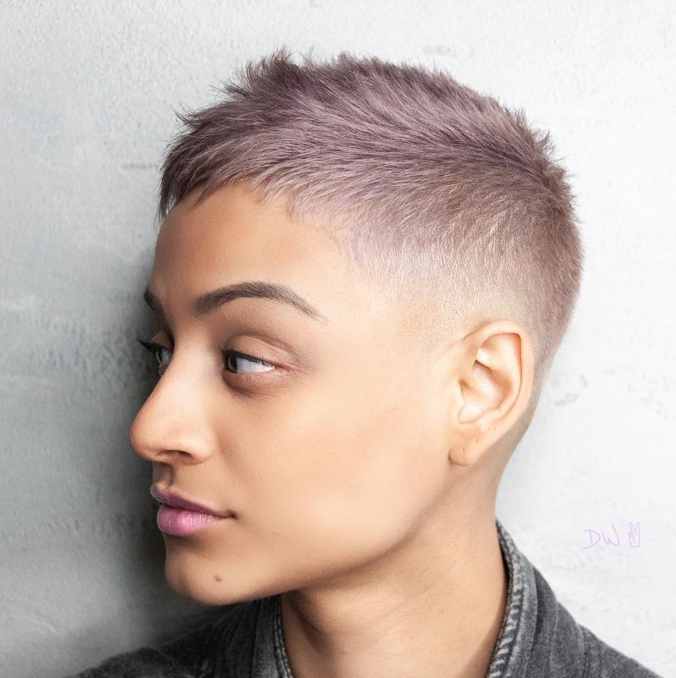 Short Pixie Haircuts trends 2020 pink