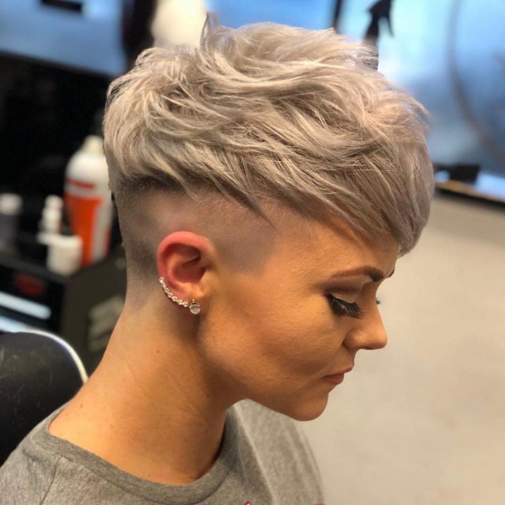 Short Pixie Haircuts trends 2020 subtle ash blonde highlights