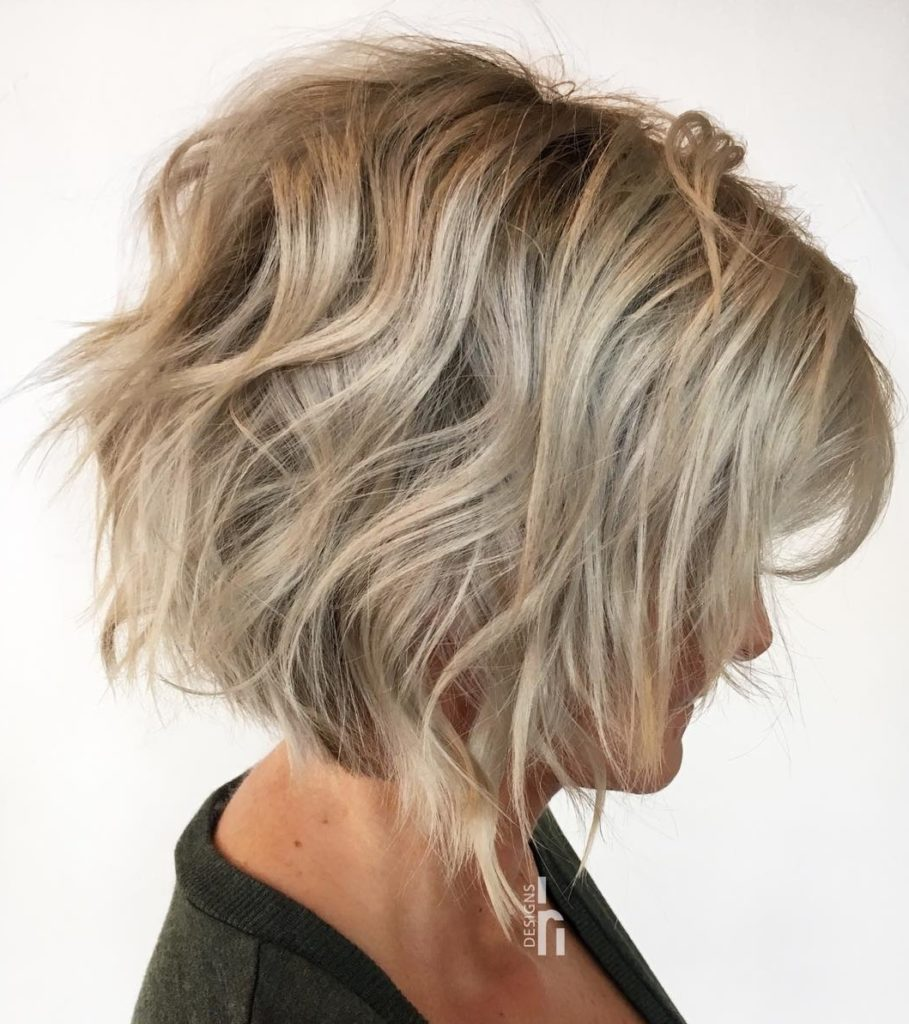 Short Shag Haircuts trends 2020 Ash Blonde Hairstyle