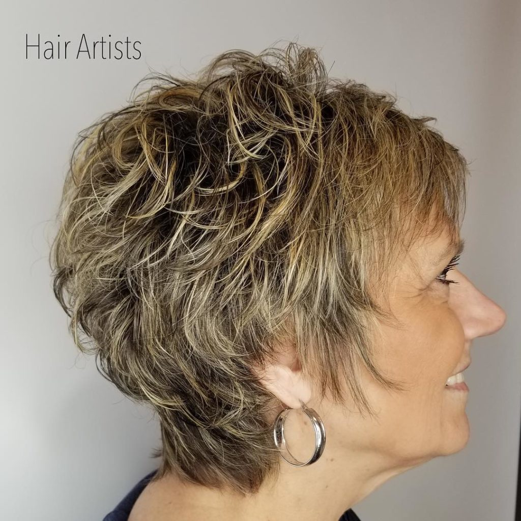 Short Shag Haircuts trends 2020 Blond Chopy layered hairstyle