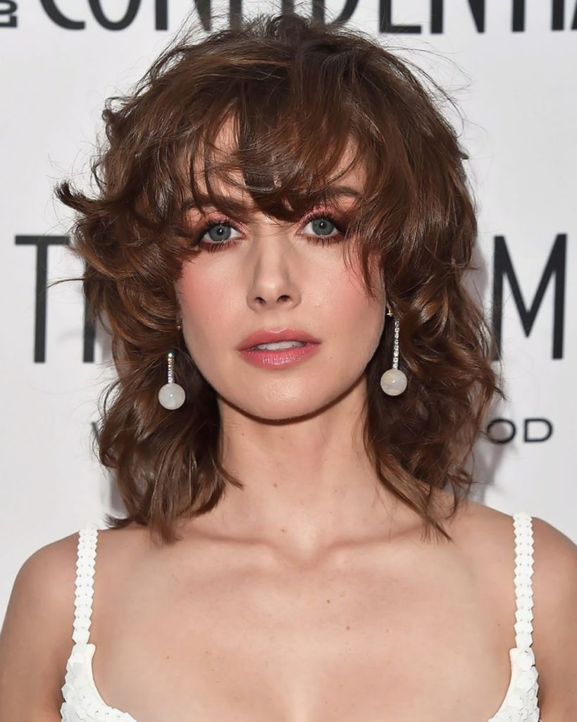 Short Shag Haircuts trends 2020 Brown Choppy layers with bang hairstyle