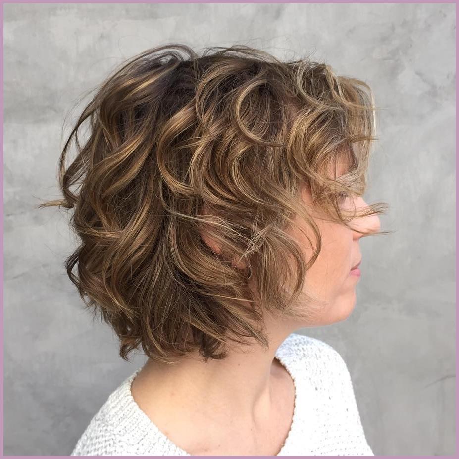 Short Shag Haircuts trends 2020 Curly caramel highlights