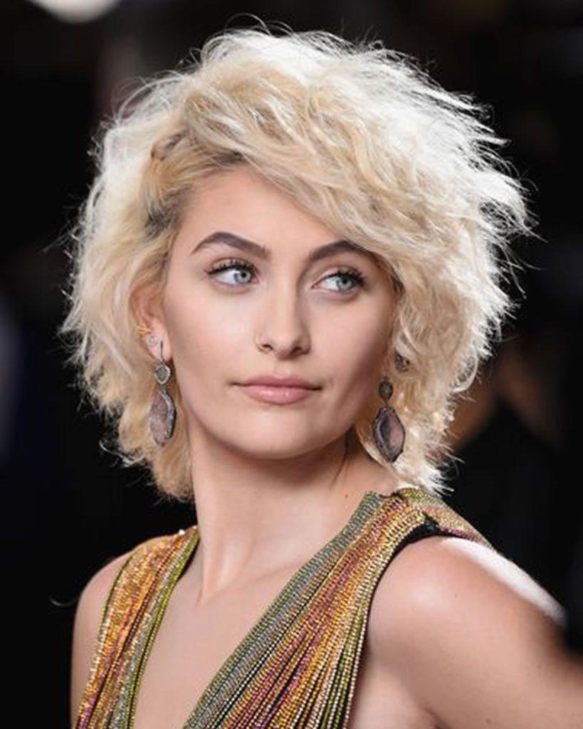 Short Shag Haircuts trends 2020 Platinum Blond Curls