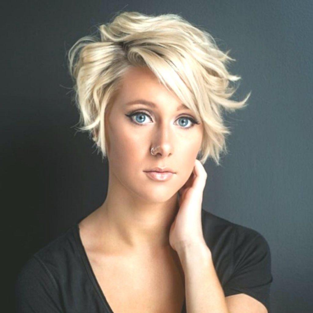 Short Shag Haircuts trends 2020 Platinum Blonde Choppy Layers