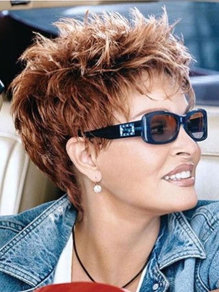 Short Shag Haircuts trends 2020 Reddish choppy layers Hairstyle