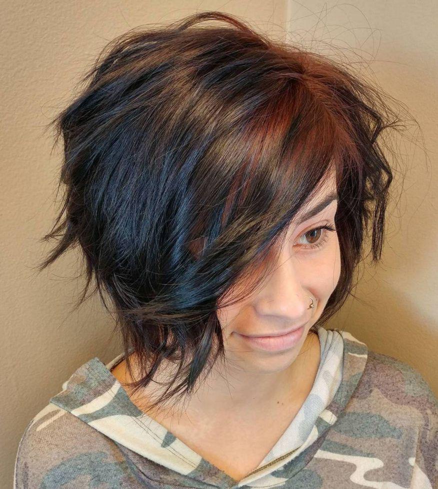 Short Shag Haircuts trends 2020 brown chocolate