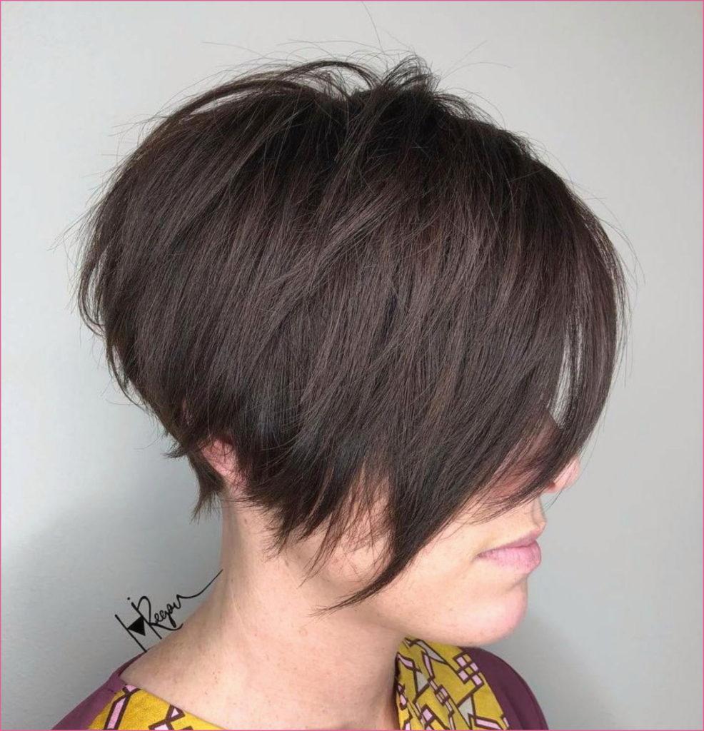 Short Shag Haircuts trends 2020 dark brown bangs