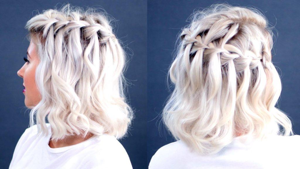 Short braided hairstyles trends 2020 Ash blonde 3 strand braid