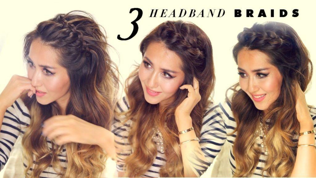 Short braided hairstyles trends 2020 Long blonde gradient crown braidd