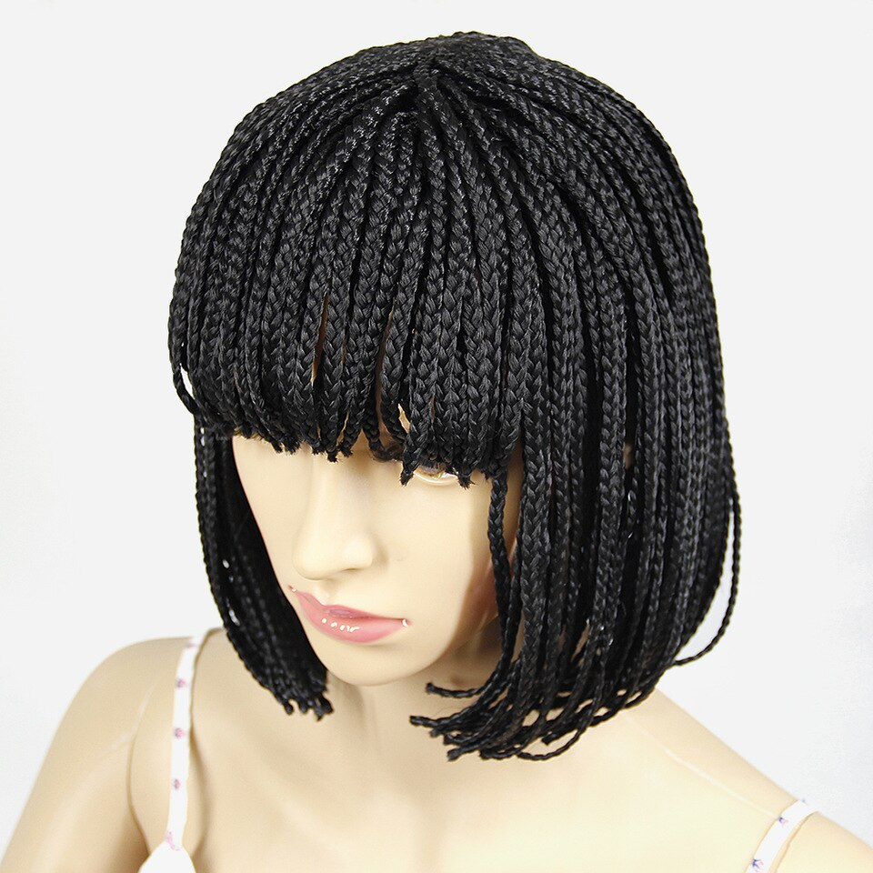 Short braided hairstyles trends 2020 black canerows square cut