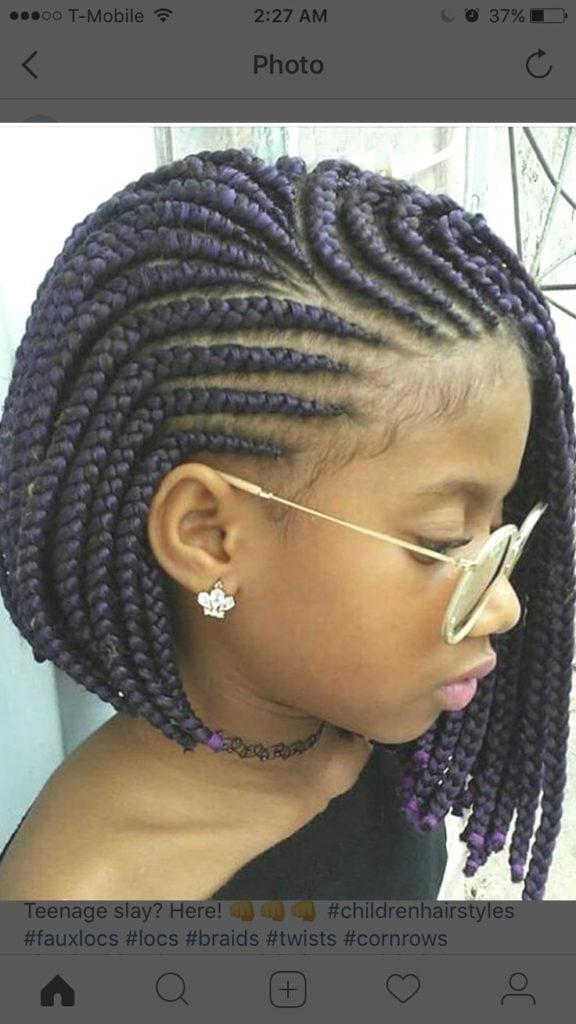 Short braided hairstyles trends 2020 box braidds 1