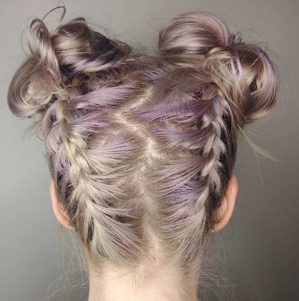 Short braided hairstyles trends 2020 french braid buns 1