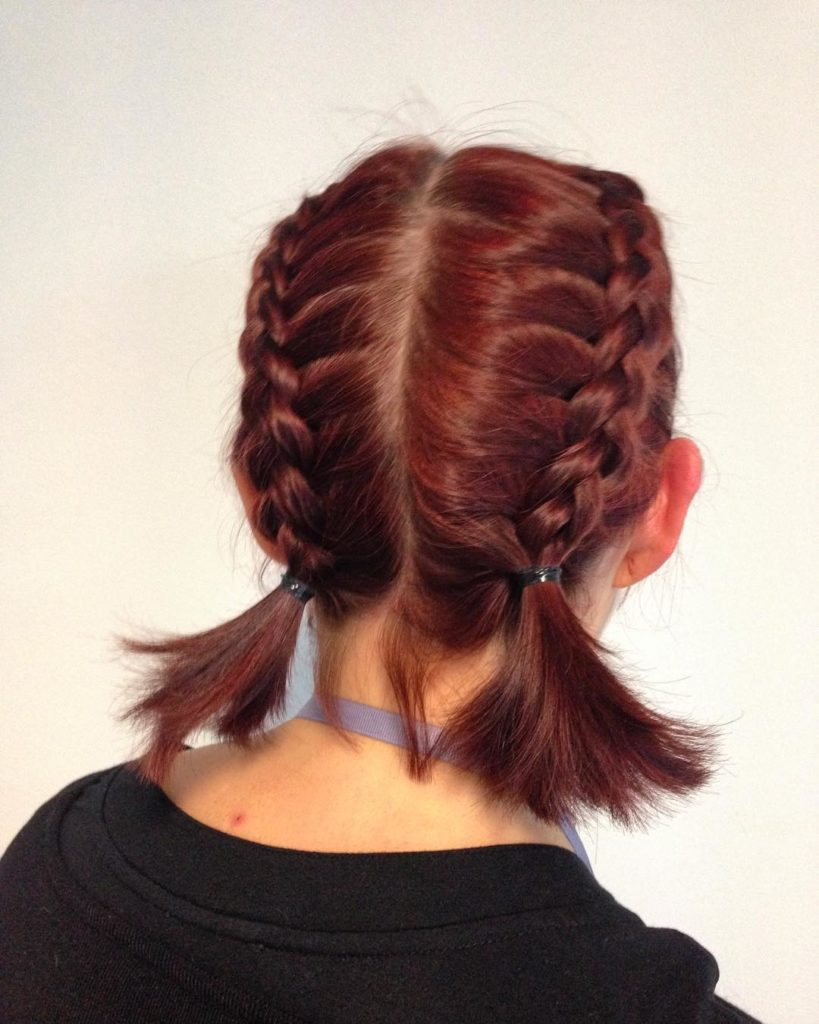 Short braided hairstyles trends 2020 french briad 1