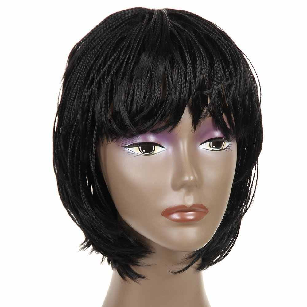 Short braided hairstyles trends 2020 micro braids 1