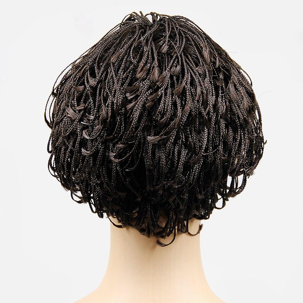 Short braided hairstyles trends 2020 micro tree braids 1