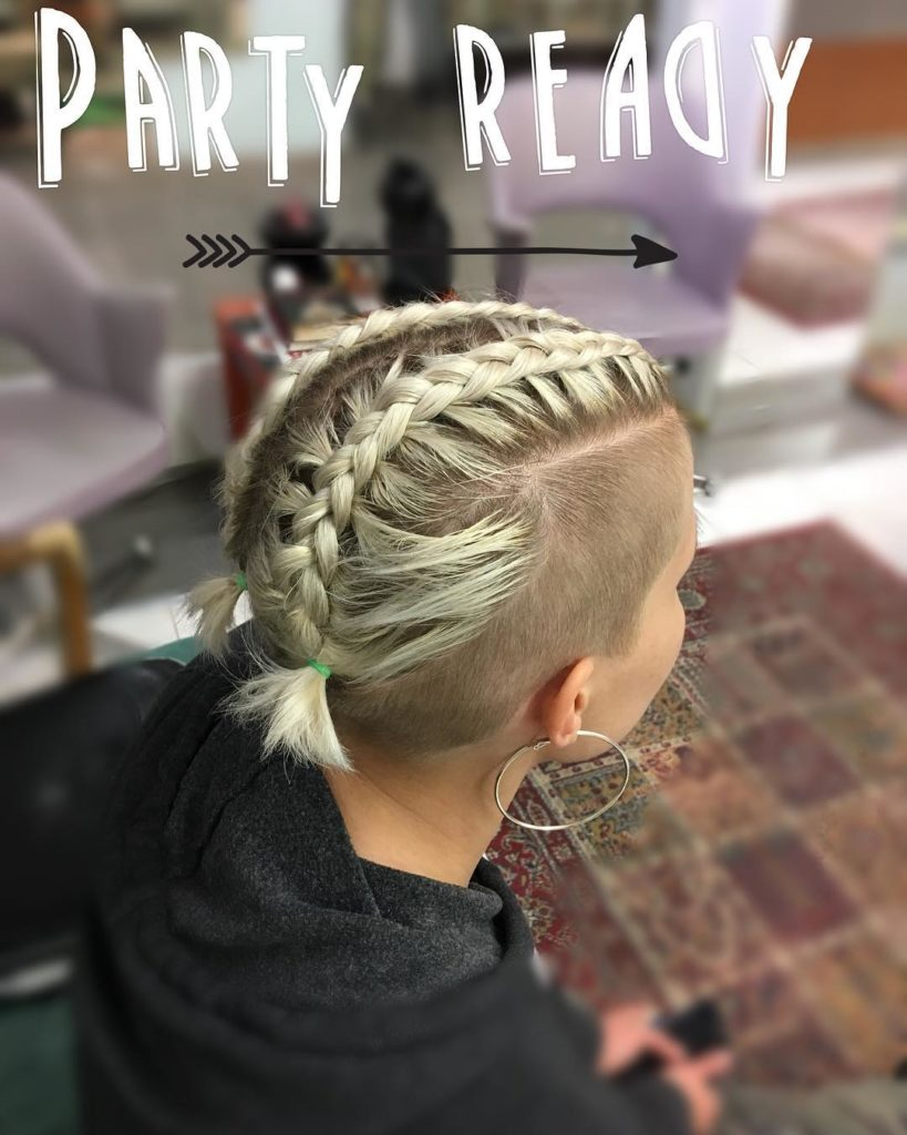 Short braided hairstyles trends 2020 two fishtail braids 1