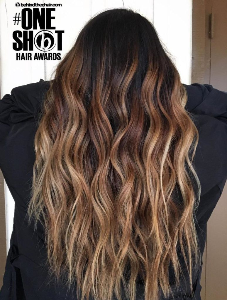long Highlights Hairstyles trends 2020 wavy curls caramel blonde color