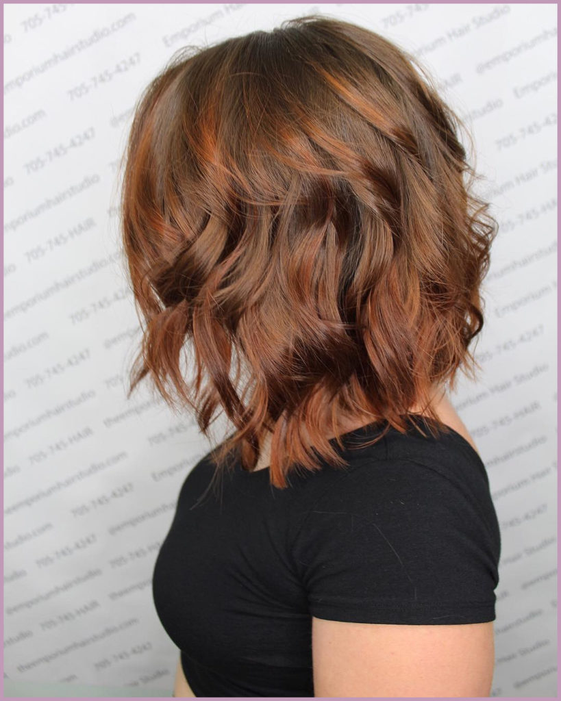 short Balayage Hairstyles trends 2020 brunette wavy haircut 1