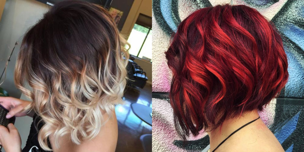 short Highlights Hairstyles trends 2020 Ash Blond and Red colors