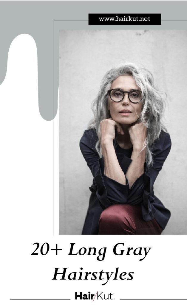 20 Long Gray Hairstyles PINTEREST