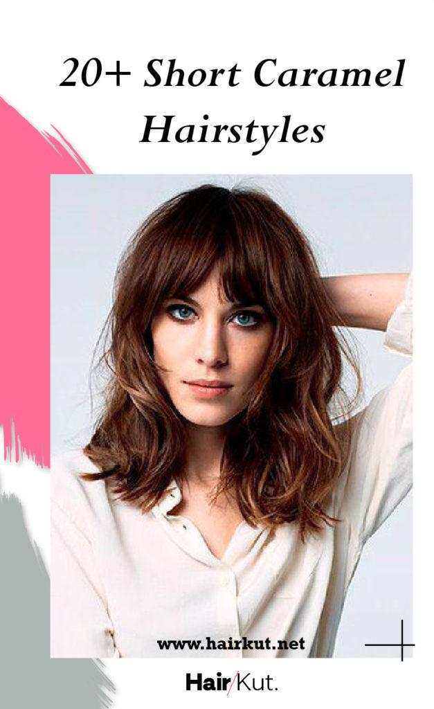 20 short caramel hairstyles PINTEREST