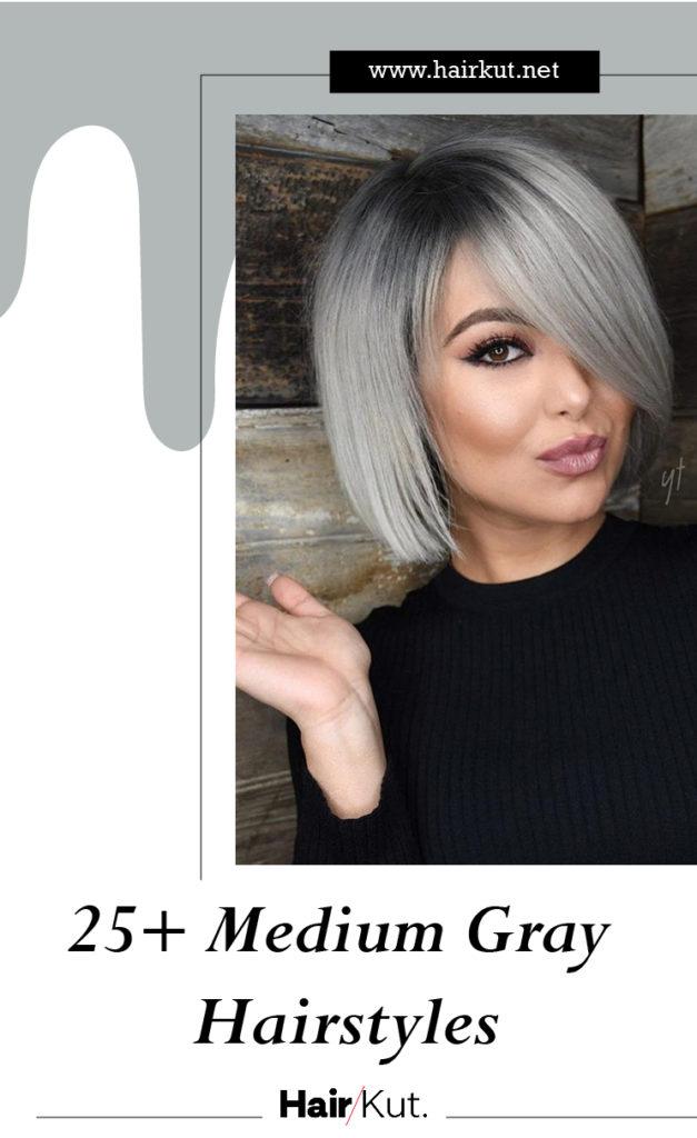 25 Medium Gray Hairstyles PINTEREST
