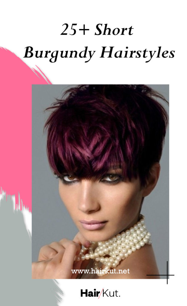 25 Short Burgundy Hairstyles PINTEREST