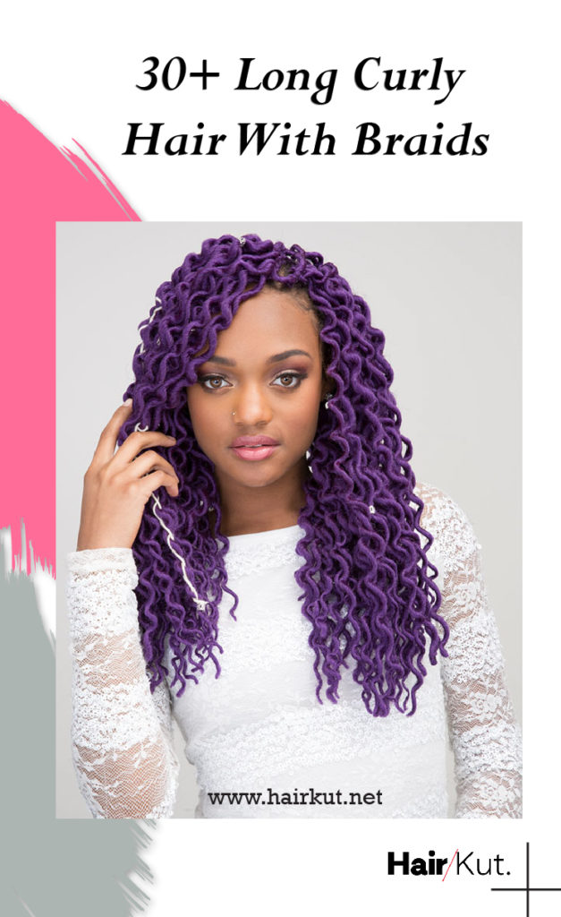 30 Long Curly Hair With Braids pinterest