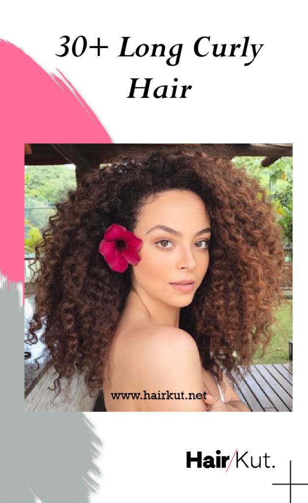 30 Long Curly Hair pinterest