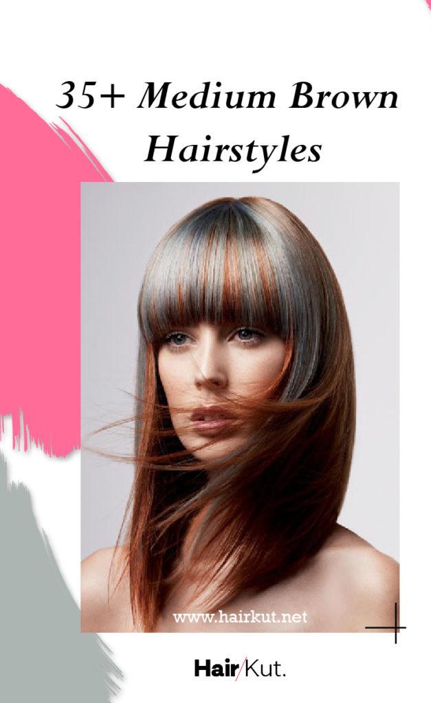 35 Medium Brown Hairstyles