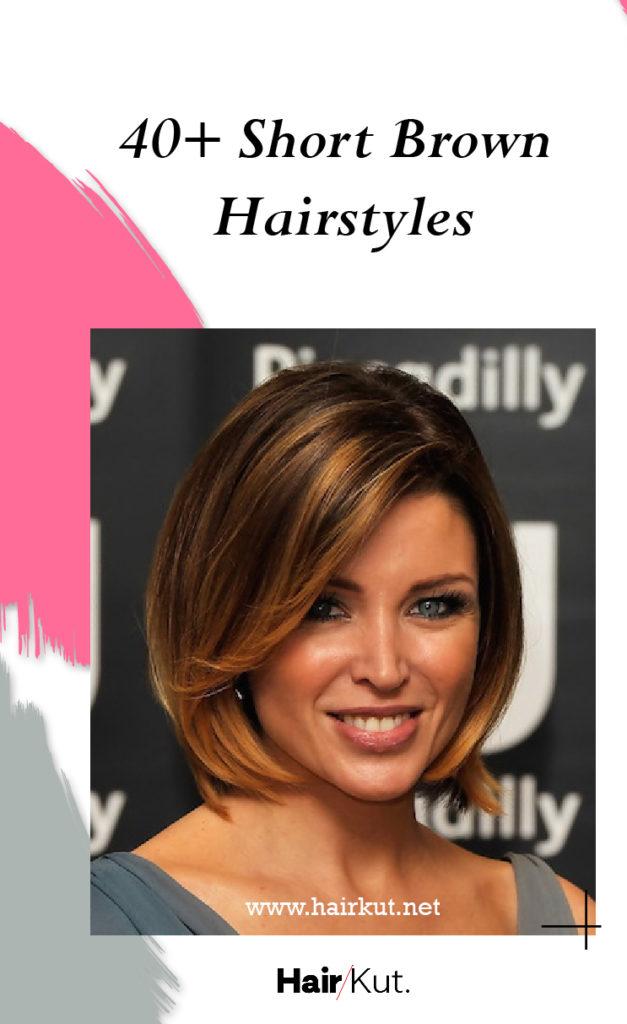 40 Short Brown Hairstyles Pinterest