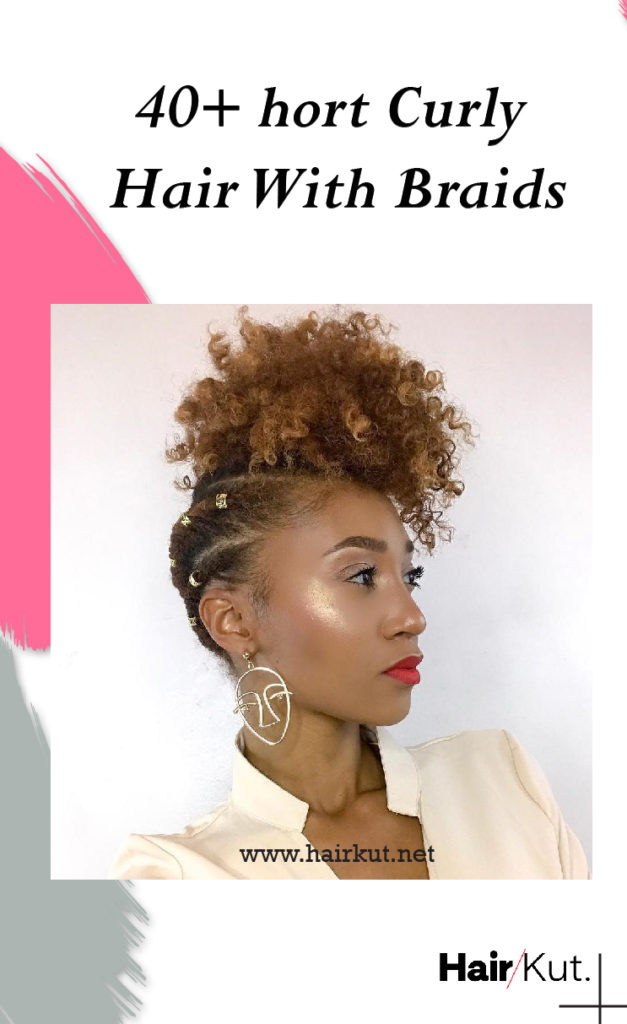 40 Short Curly Hair With Braids pinterest