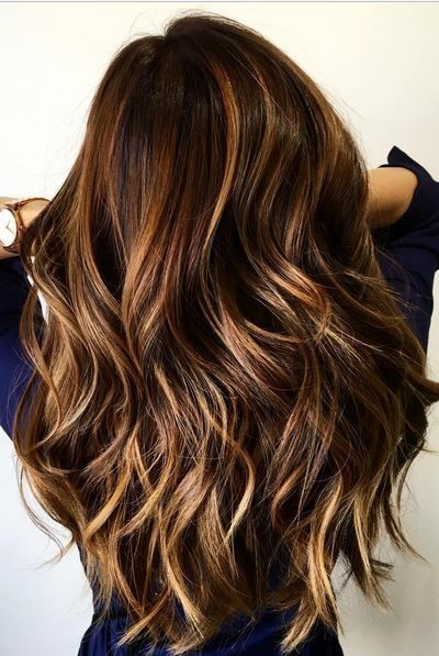 Balayage Layered Wavy Long Hairstyles