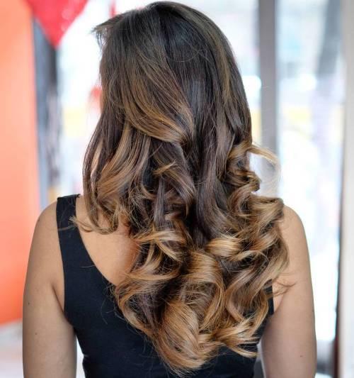 Barrel Curled Balayage Hair