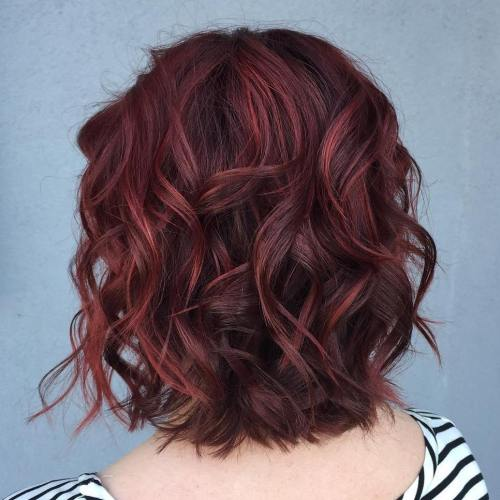 Blackberry Burgundy Waves