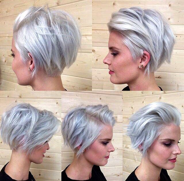 Blonde Side Swept Bob Gray Haircut