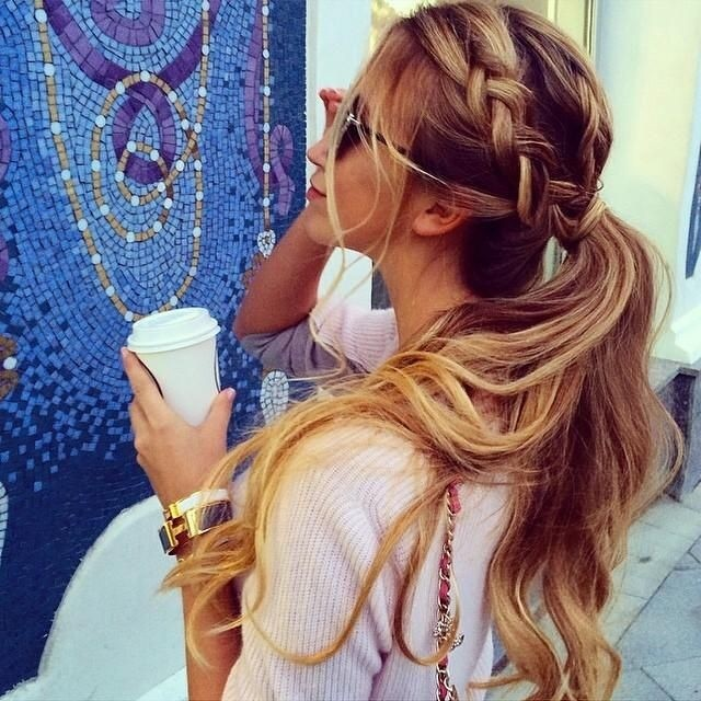 Braid Messy Ponytail for Summer Women Hairstyles