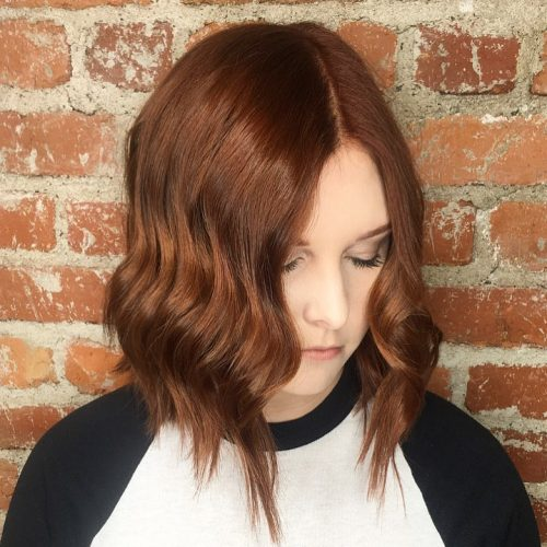 Brick Red Middle Part