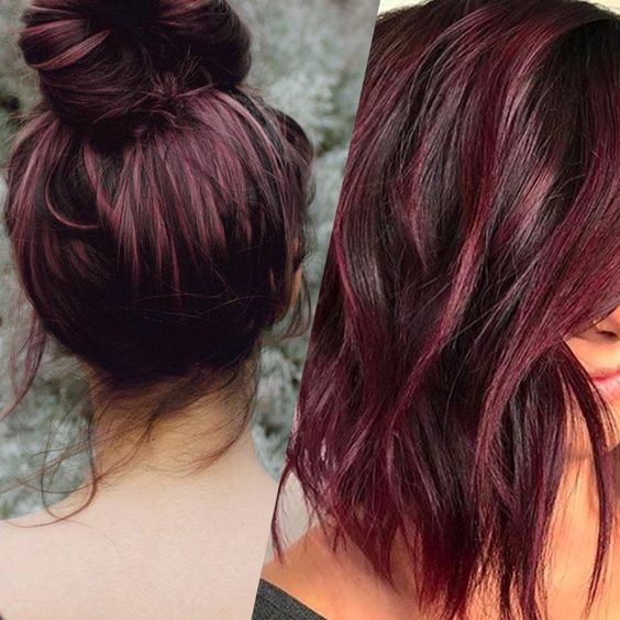 Bright Black Raspberry Hair