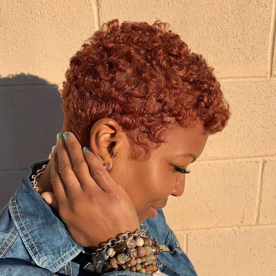 Brightly Colored Short Length Hair