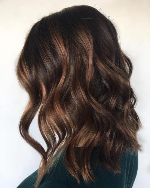 Bronzed Brown Balayage Hair