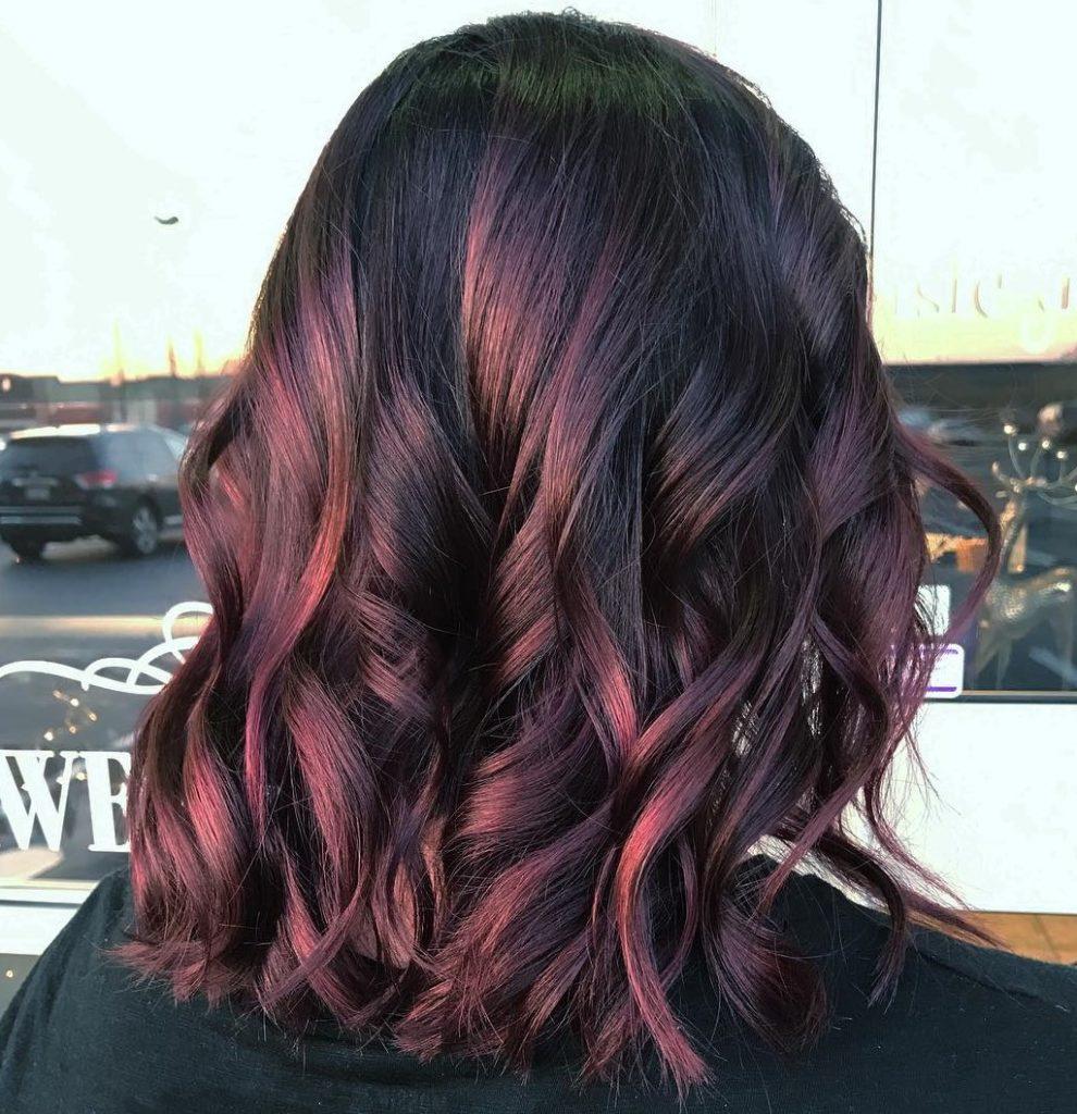 Burgundy Curly Lob