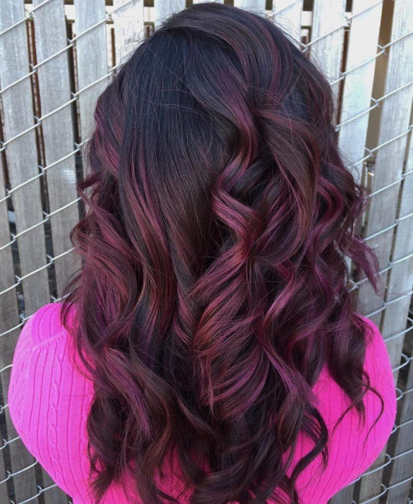Burgundy Purple Curls
